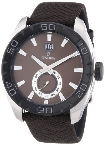 Festina Herren Armbanduhr XL Analog Quarz Nylon F16674 3