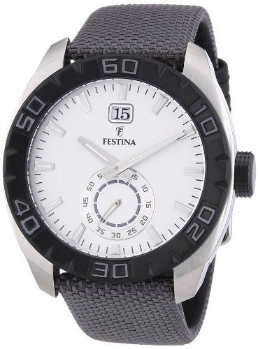 Festina Herren Armbanduhr XL Analog Quarz Nylon F16674 1