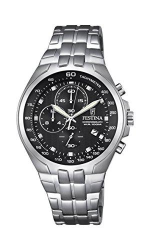 Festina Herren Armbanduhr SPORT Chronograph Quarz Edelstahl F6843 4