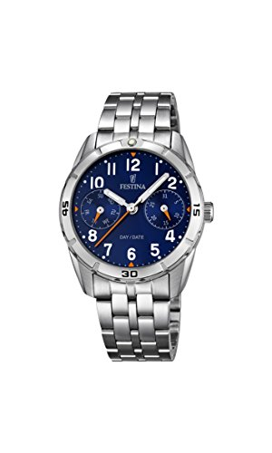 Festina Unisex Armbanduhr JUNIOR COLLECTION Analog Quarz Edelstahl F16908 2