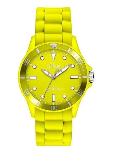 sOliver Damen-Armbanduhr Analog Quarz Silikon SO-2741-PQ