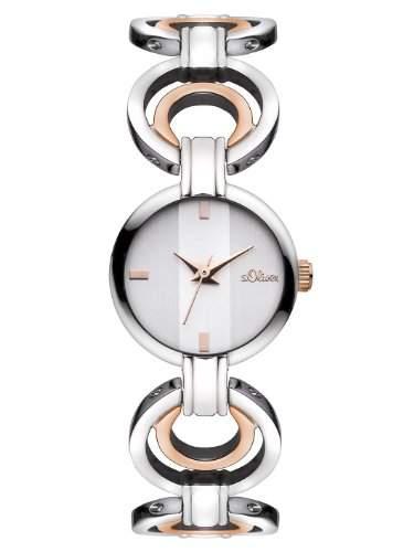 sOliver Damen-Armbanduhr XS Analog Quarz Edelstahl SO-2872-MQ