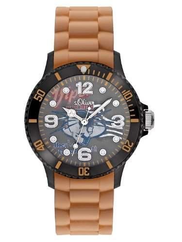 sOliver Jungen-Armbanduhr Silikon braun SO-2227-PQ