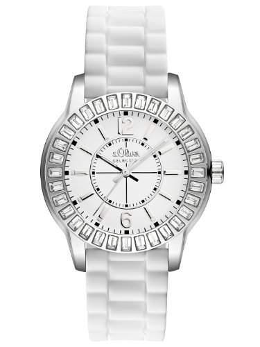 sOliver Damen-Armbanduhr Analog Silikon weiss SO-2250-PQ