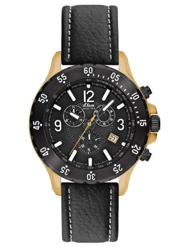 sOliver Herren-Armbanduhr Quarz Analog SO-2263-LC