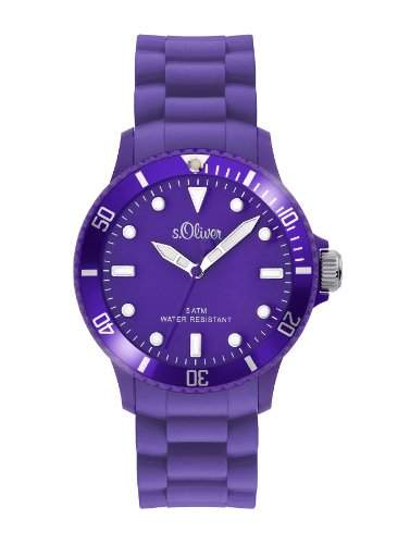 sOliver Unisex-Armbanduhr Medium Size Silikon violett SO-2292-PQ