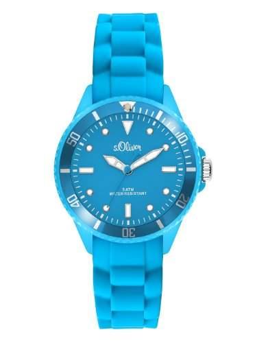 sOliver Unisex-Armbanduhr Small Size Silikon blau SO-2312-PQ
