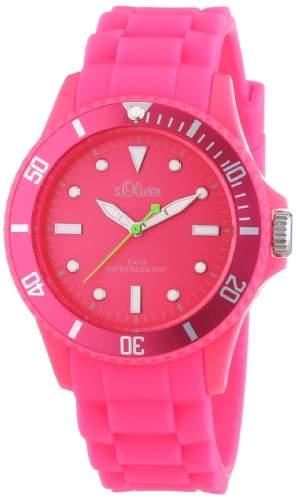 sOliver Unisex-Armbanduhr Medium Size Silikon Rosa SO-2333-PQ