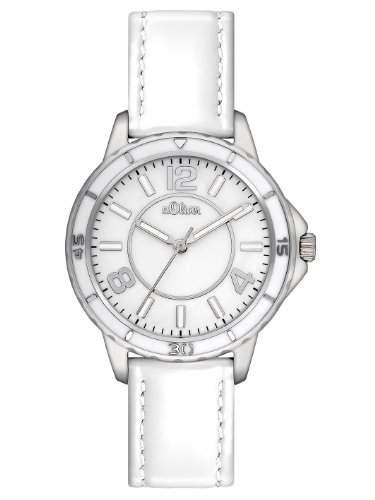 sOliver Damen-Armbanduhr XS Analog Leder SO-2355-LQ