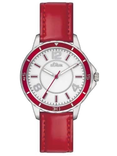 sOliver Damen-Armbanduhr XS Analog Leder SO-2356-LQ