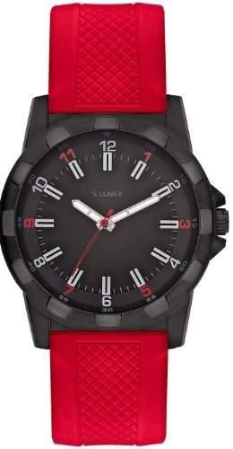 sOliver Herren-Armbanduhr XL Analog mit angesagtem Kunststoffband SO-2369-PQ