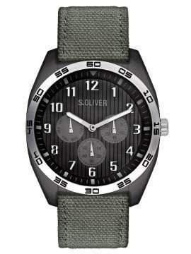 sOliver Herren-Armbanduhr Analog Textil SO-2372-LM