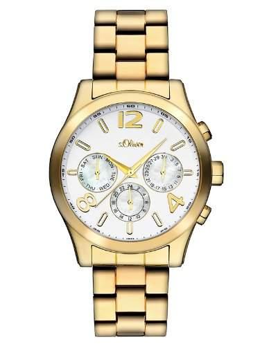 sOliver Damen-Armbanduhr Analog Quarz Edelstahl beschichtet SO-2393-MM