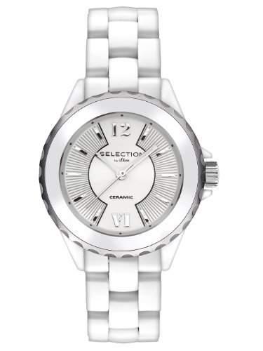sOliver Damen-Armbanduhr XS Analog Keramik SO-2395-CQ