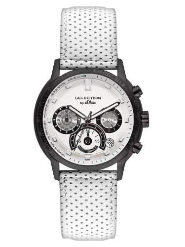 sOliver Herren-Armbanduhr XL Chronograph Leder SO-2398-LC