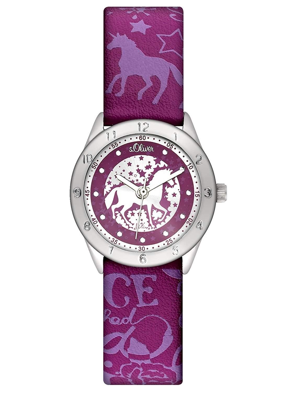 sOliver Maedchen-Armbanduhr Analog Leder SO-2409-LQ