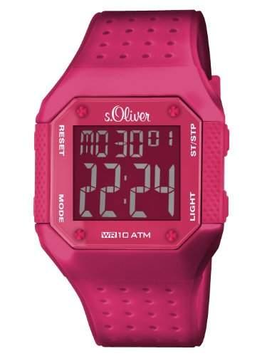 sOliver Unisex-Armbanduhr Digital Plastik SO-2438-PD