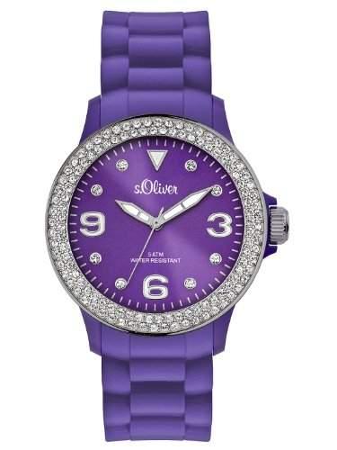 sOliver Damen-Armbanduhr Analog Silikon SO-2445-PQ