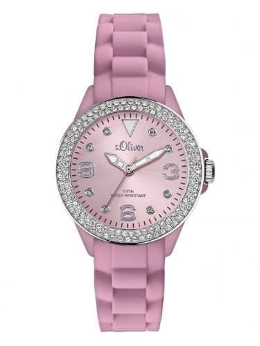 sOliver Damen-Armbanduhr XS Analog Silikon SO-2451-PQ