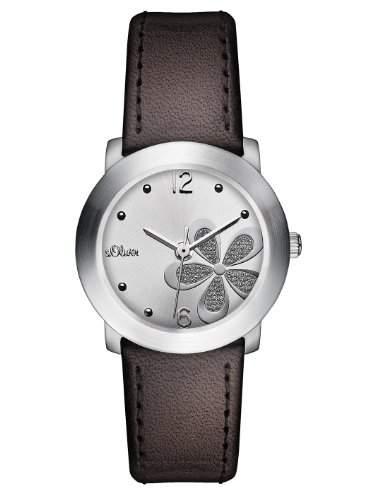 sOliver Damen-Armbanduhr Casual XS Analog Quarz Leder SO-2482-LQ