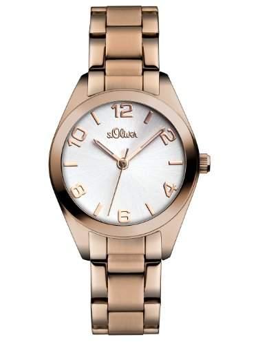 sOliver Damen-Armbanduhr Casual XS Analog Quarz Edelstahl SO-2492-MQ