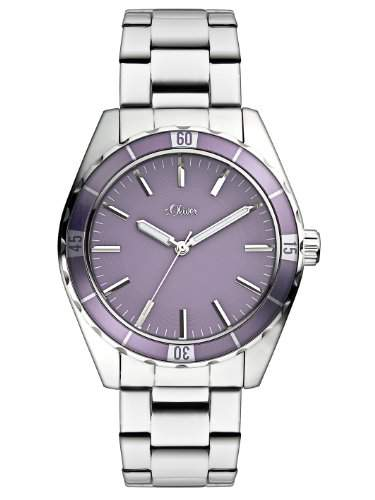 sOliver Damen-Armbanduhr Casual Analog Quarz Edelstahl SO-2498-MQ