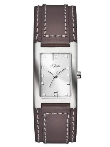sOliver Damen-Armbanduhr Casual Analog Quarz Leder SO-2501-LQ
