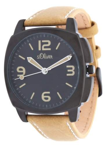 sOliver Herren Armbanduhr schwarz SO-2509-LQ
