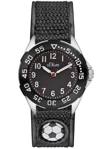 sOliver Jungen-Armbanduhr Casual Analog Quarz Textil SO-2529-LQ