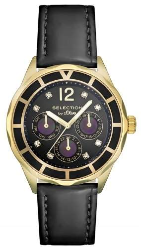 sOliver Damen-Armbanduhr Analog Quarz Leder SO-2541-LM