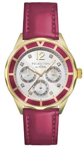 sOliver Damen-Armbanduhr Analog Quarz Leder SO-2543-LM
