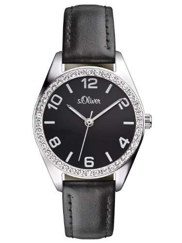 sOliver Damen-Armbanduhr Casual XS Analog Quarz Leder SO-2546-LQ