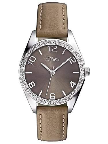 sOliver Damen-Armbanduhr Casual XS Analog Quarz Leder SO-2547-LQ