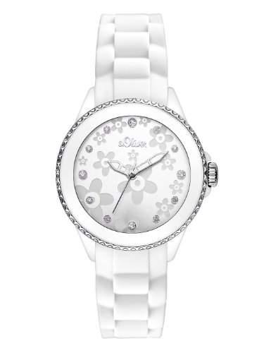 sOliver Damen-Armbanduhr XS Analog Quarz Silikon SO-2558-PQ
