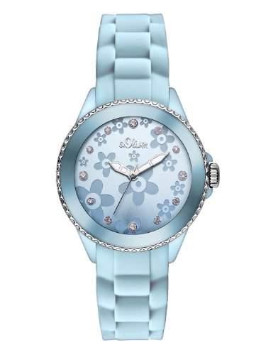sOliver Damen-Armbanduhr XS Analog Quarz Silikon SO-2562-PQ