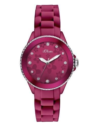 sOliver Damen-Armbanduhr XS Analog Quarz Silikon SO-2563-PQ