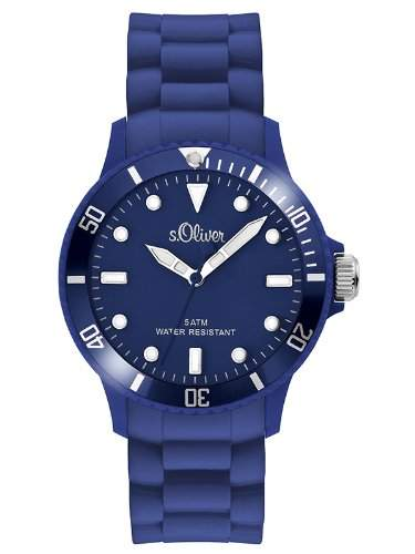 sOliver Unisex-Armbanduhr Analog Quarz Silikon SO-2577-PQ