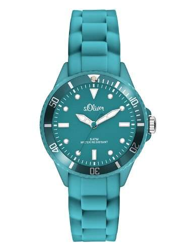 sOliver Unisex-Armbanduhr Analog Quarz Silikon SO-2581-PQ