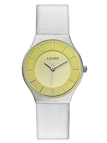 sOliver Damen-Armbanduhr XS Analog Quarz Leder SO-2615-LQ