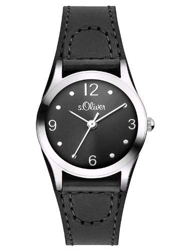 sOliver Damen-Armbanduhr XS Analog Quarz Leder SO-2623-LQ