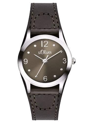 sOliver Damen-Armbanduhr XS Analog Quarz Leder SO-2624-LQ