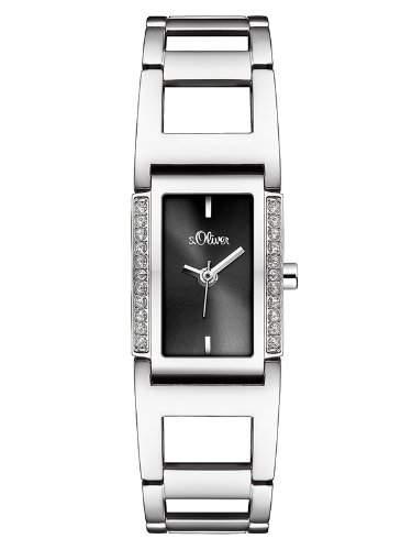 sOliver Damen-Armbanduhr Analog Quarz Edelstahl SO-2651-MQ