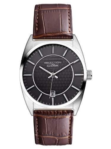 sOliver Herren-Armbanduhr XL Analog Quarz Leder SO-2652-LQ