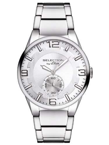 sOliver Herren-Armbanduhr XL Analog Quarz Edelstahl SO-2654-MQ