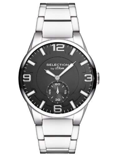 sOliver Herren-Armbanduhr XL Analog Quarz Edelstahl SO-2655-MQ