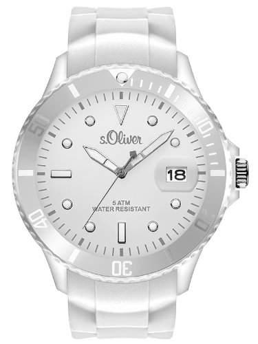 sOliver Herren-Armbanduhr XL Analog Quarz Silikon SO-2678-PQ