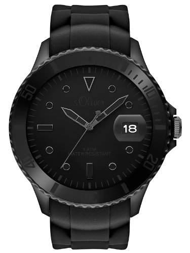 sOliver Herren-Armbanduhr XL Analog Quarz Silikon SO-2683-PQ