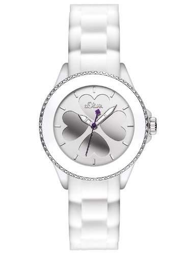 sOliver Damen-Armbanduhr XS Analog Quarz Silikon SO-2696-PQ