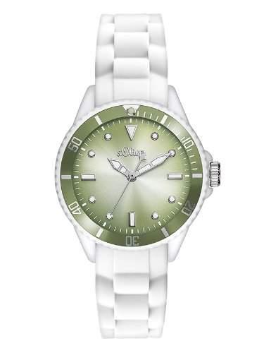 sOliver Damen-Armbanduhr XS Analog Quarz Silikon SO-2700-PQ