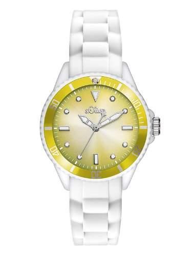 sOliver Damen-Armbanduhr XS Analog Quarz Silikon SO-2701-PQ